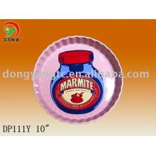 Factory direct wholesale colorful ceramic pizza plates
