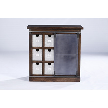 Solid Mango Wood Bedside Cabinet Style Bed Side Table