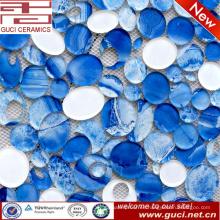 nuevo Diseño Oval Azulejos de Vidrio de Mosaico en Acrílico para la decoración de la pared de la casa
