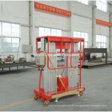 Hydraulischer mobiler Zwei-Stangen-Lift aus Aluminium