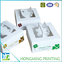 Wholesale Different Colors Paper Cake Packaging Boxes with Pet Window