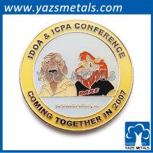 Kundenspezifische runde Metall-Pin-Abzeichen / Emaille-Pin-Abzeichen / Idoa icpa conerence Pin-Abzeichen