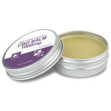 1000mg CBD balm CBD isolate infused topical balm for Pain Relief  healing salve oem bulk order