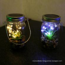 Hanging Solar Mason Jar Lid Lights, 20 Led String Fairy Lights