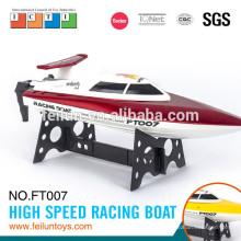 bateria de 2,4 G de barco rc 2014 operar o barco de alta velocidade controle remoto pesca isca para venda