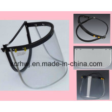 Schützende Gesichtsmaske, PVC / PC Faceshield Visor, PC Visor Face Shield für Sicherheitshelm, PVC Face Shield Visor, Transparente Face Shield Visor, Green Face Shield