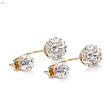 Popular White Crystal Stainless Steel Stud Earrings Price
