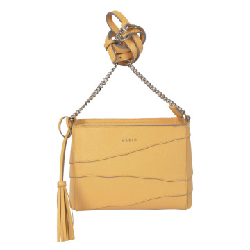 Top Zip Mini Cross Body Bolso de cuero real