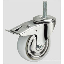 Industrial Caster Nylon Caster Thread with Side Brake