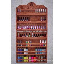 Neue Nagellack Rack Display Hölzerne Regal Make-up Produkte Display Unit Bambus Kosmetik Pop Displays