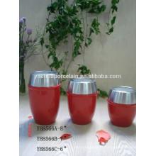 Estilo quente barato cerâmica Porcelana Candy Creme Jar Armazenamento