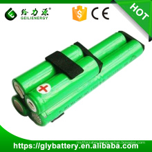 Ni-MH 1500mAh AA 7.2V rechargeable batteries/Cells Packs for sweeper