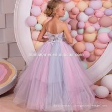 OEM Новый мода последние дизайн красочные бальное платье цветок длинный Длина платье росы плечо назад 15-летней девушки без платье
