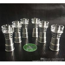 6-en-1 qualité des fonctions Accessoires pour fumer Domeless Titanium Nail Quartz Bowl Glass Banger Wholesale