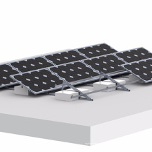 Sistema de montaje de panel solar inclinable ajustable de techo plano