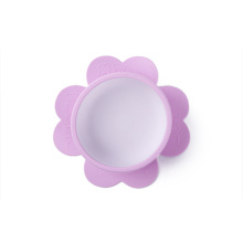 flower shape silicone baby suction bowl