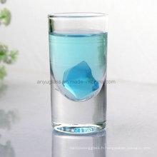 Tasse transparente en verre transparent sans plomb pour boissons alcoolisées, vin, bière, eau