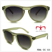 Plastic Ladies Transparent Sunglasses with Double Color (WSP508286)