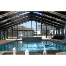 Couverture de conception de piscine de structure en acier préfabriquée