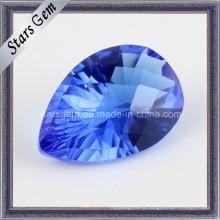 Tanzanite Blue Pear Millennium Cut кубический цирконий для ювелирных изделий