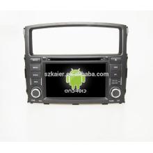 Cuatro núcleos! DVD de coche con enlace de espejo / DVR / TPMS / OBD2 para pantalla táctil de 7 pulgadas de cuatro núcleos 4.4 sistema Android Mitsubishi Pajero