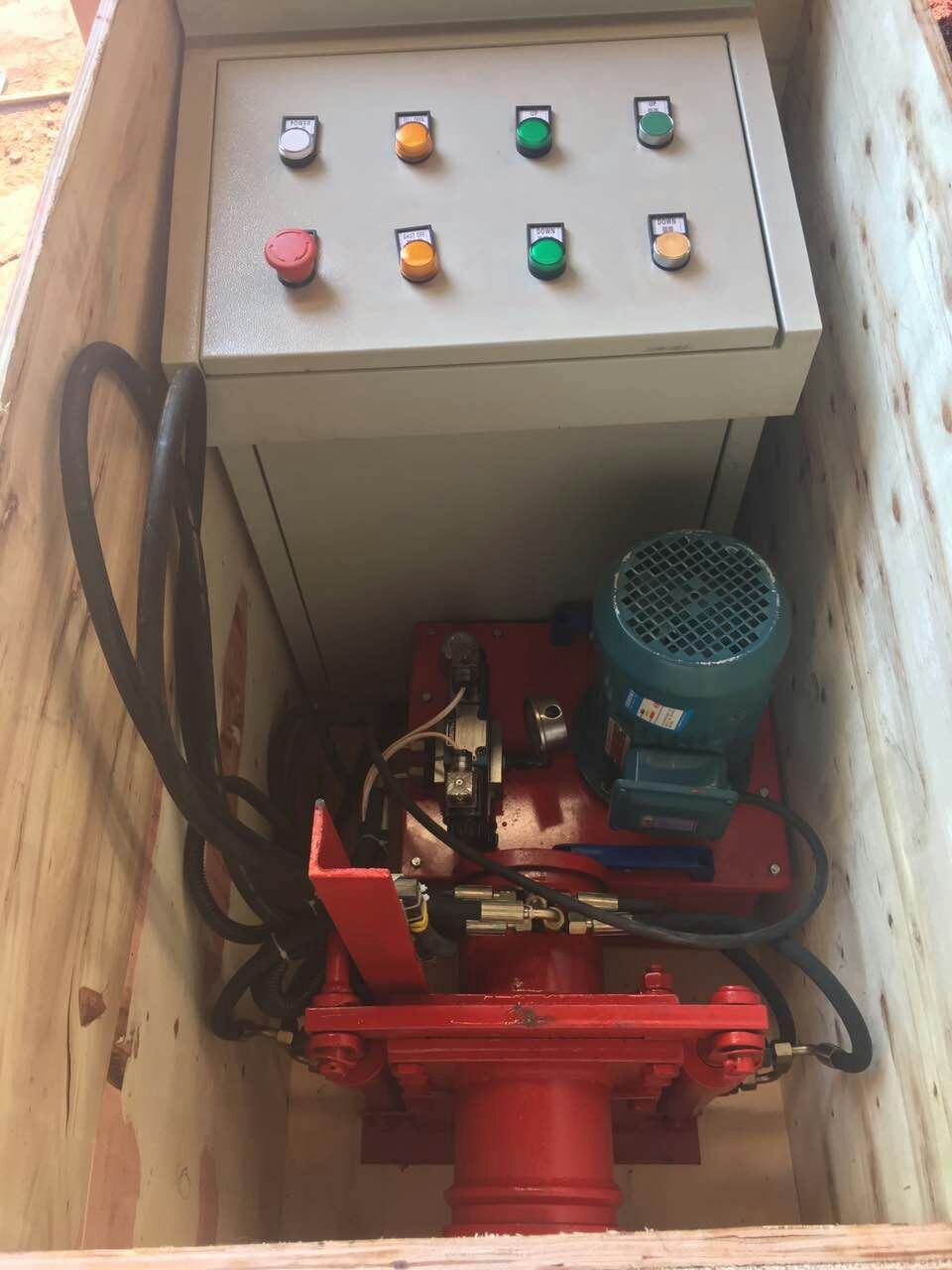 concrete pump 380v shut off valve package