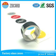 Calidad de acero inoxidable Magic NFC Smart Ring para Smart Phone al por mayor
