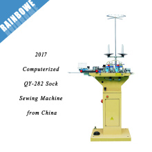 2017 QY-282 best price computerized sock toe sewing machine from China