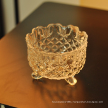 Glass Bowl Home Goods Crystal Religious Candle Holder