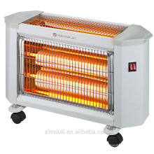 mini quartz heater with caster and tip over