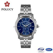 OEM Stainless Steel Slim Stone Men′s Quartz Watch