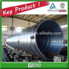 Máquina de tubos de alcantarilla ondulada de metal