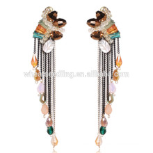business negotiation daily wear hanging diamond extra long post stud earrings