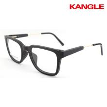 Cadre optique en bois prêt stock lunettes en bois cool Lunettes en bois lunettes montures en métal temple combiné