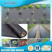 3% oder 4% UV-Beständigkeit biologisch abbaubar Landwirtschaftlichen PP Stoff Mat Schwarz Bodendecker