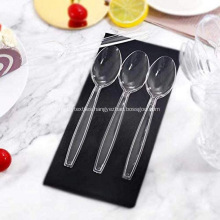 Heavy Duty Clear Transparent Plastic Spoons