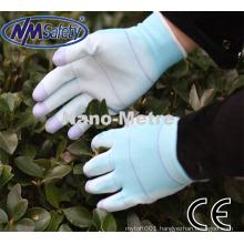 NMSAFETY13G polyester U3 liner coated PU on finger smartphone gloves