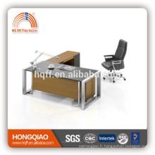 bureau d'ordinateur de bureau exécutif en bois bureau avec bureau de travail de gestionnaire de cabinet