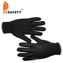 Flexible 13 Gauge Black Nylon Labor Gloves