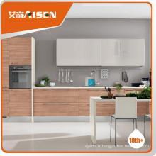 Modèles variés placage en bois armoires de cuisine modernes