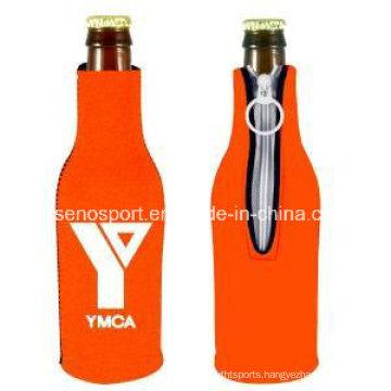 Cheap Price Neoprene Bottle Cooler with Zipper (SNBC-01)