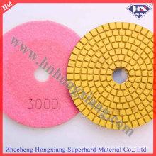 Cojín de pulido mojado flexible del piso del diamante de 100m m con 50 # - 5000 #
