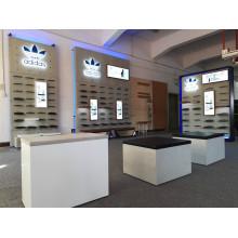 Uso múltiple del gabinete de exhibición del metal de madera de la zapatería