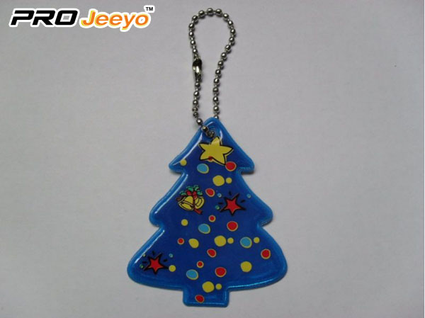 Reflective Safety Christmas Tree Key Chain Rv 213b 2