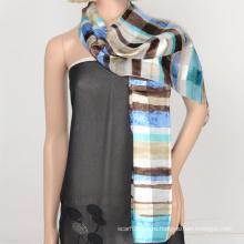 2016 мода блестящий шарф атласная марлевые дизайн с пользовательский шаблон