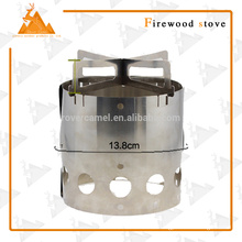 Portable Hiking Camping Stainless Steel Wood Stove Camping Wood Stove