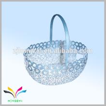 Nuevo diseño de malla de alambre de metal de fruta o cesta de almacenamiento de cromo de alimentos para ir de compras