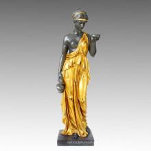 Mitología Bronce Jardín Escultura Diosa Hebe Deco Latón Estatua Tpls-001