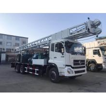 Plataforma de perforación de pozos de agua de perforación montada en camión