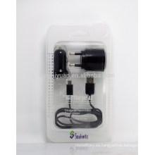 Universale 3 en 1 cable del cargador fijado para el cargador del samsung